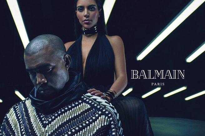 Как Ким Кардашьян и Канье Уэст снялись для Balmain - фото №3