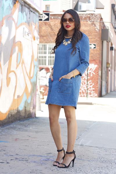 Топ 20 модных весенних платьев из денима - фото №4