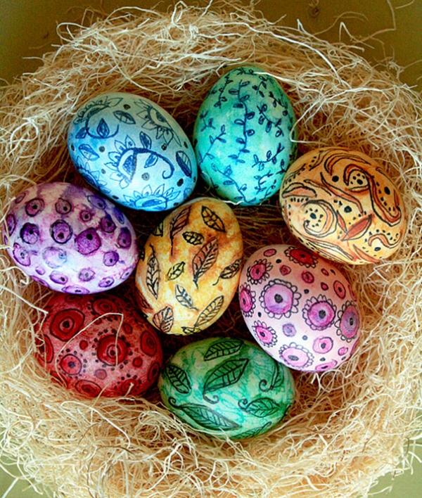 Как красиво красить яйца на Пасху: лучшие идеи - фото №6