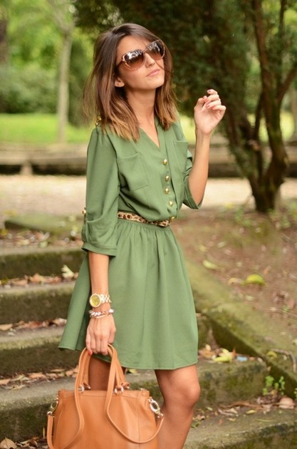 Тренд: платье-рубашка - фото №20