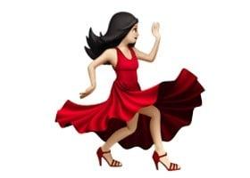 красное платье эмодзи фото
