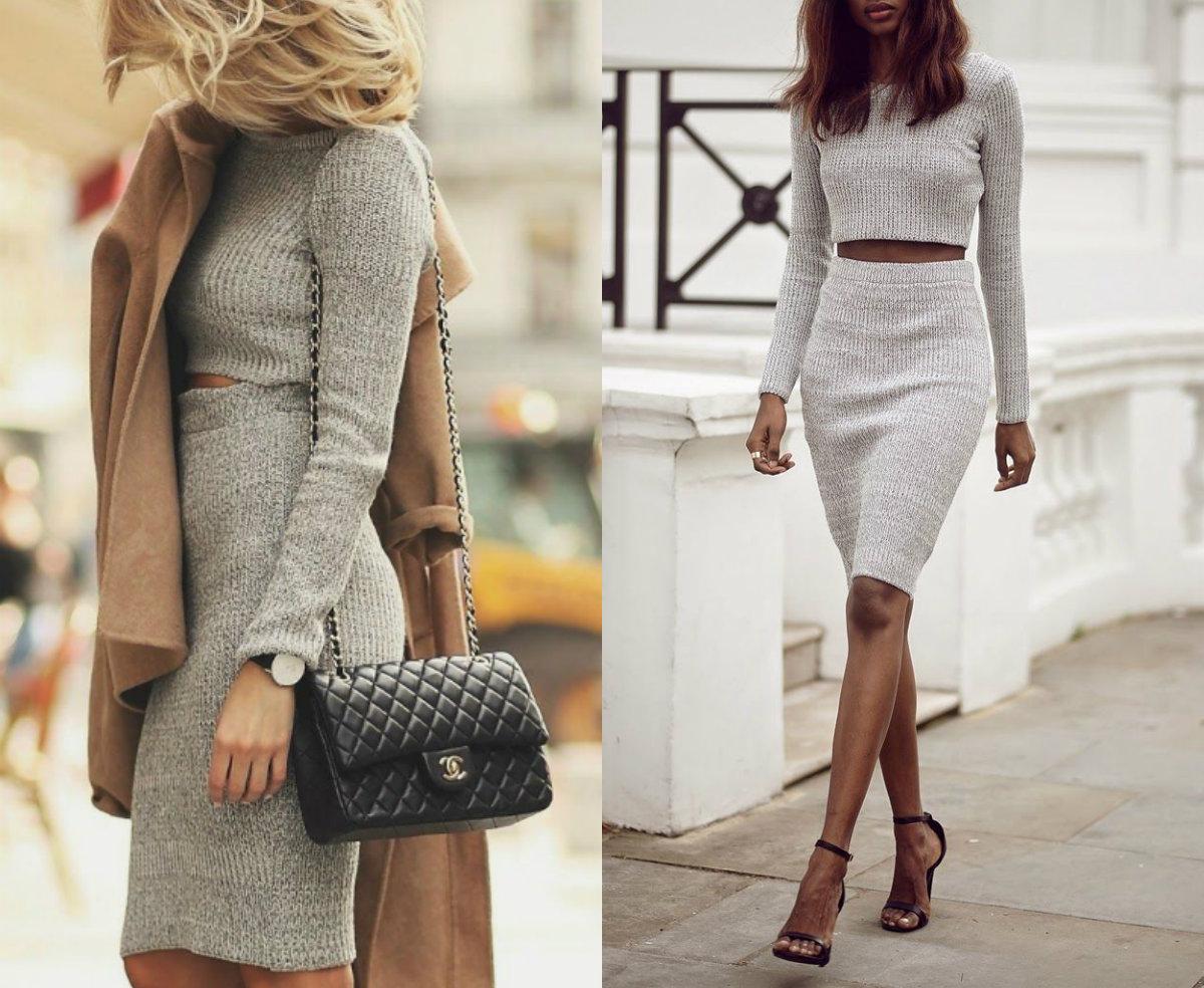 Street style: как носить трикотажную юбку