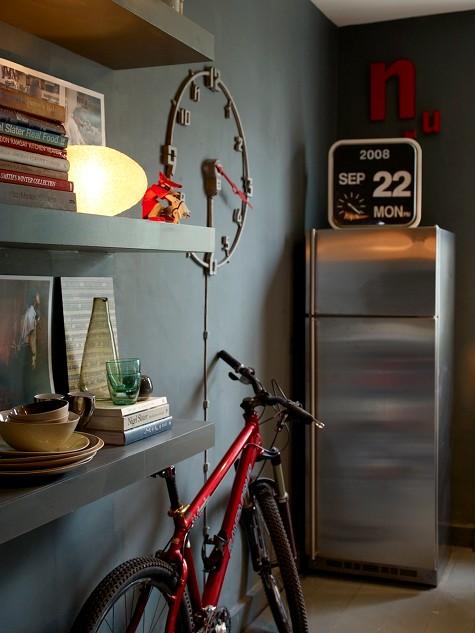 Интересная деталь в интерьере: велосипед - фото №1