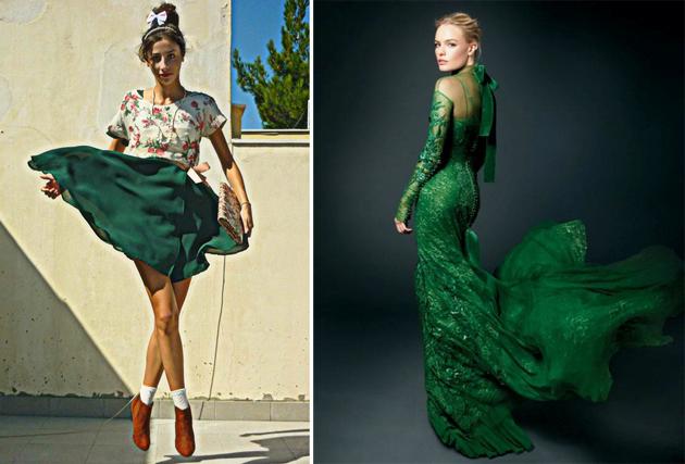 Тренд: изумрудно-зеленый цвет - как и с чем носить - фото №2