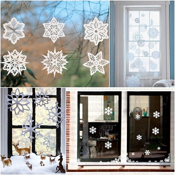 Новый год на окнах: 3 варианта декора - фото №1