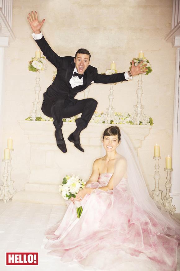 Первое свадебное фото Тимберлейка и Бил - фото №1
