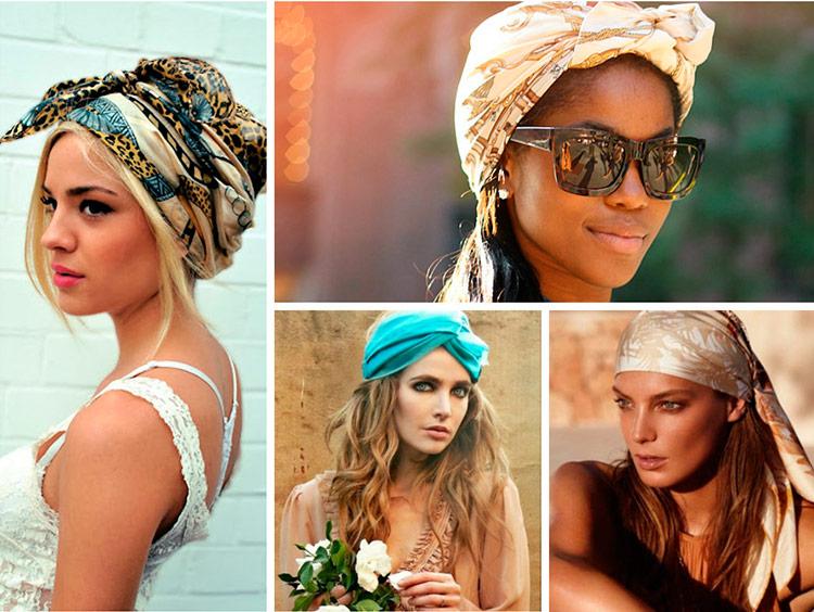повязать платок на голову красиво фото первом фото