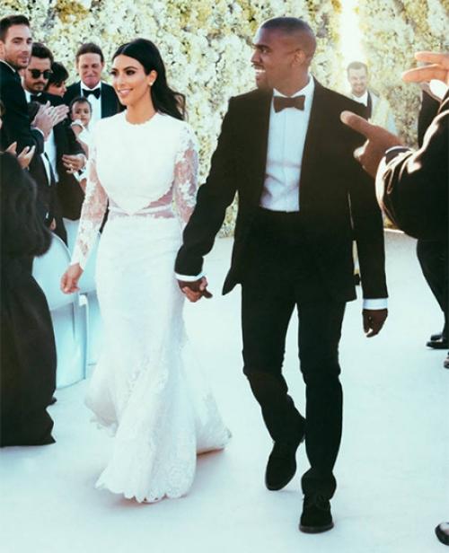 ким и канье свадьба фото