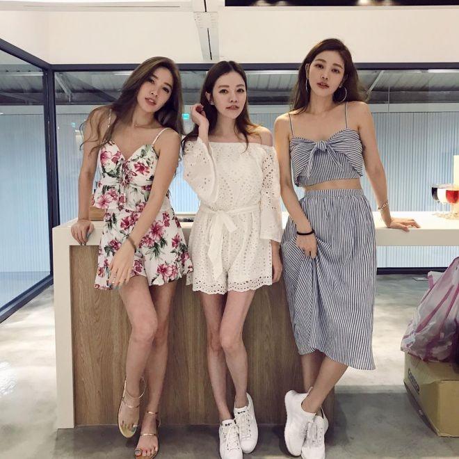 Луже Нсу с сестрами