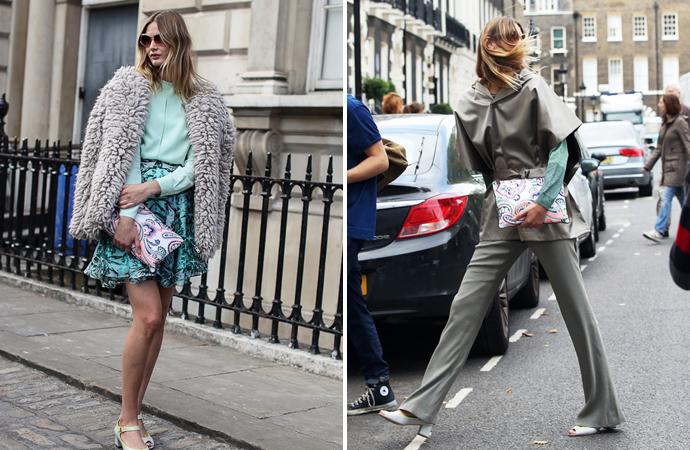 Уличный стиль на Неделе моды в Лондоне - фото №3