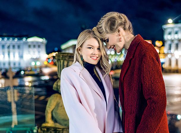 Литвинова с дочкой