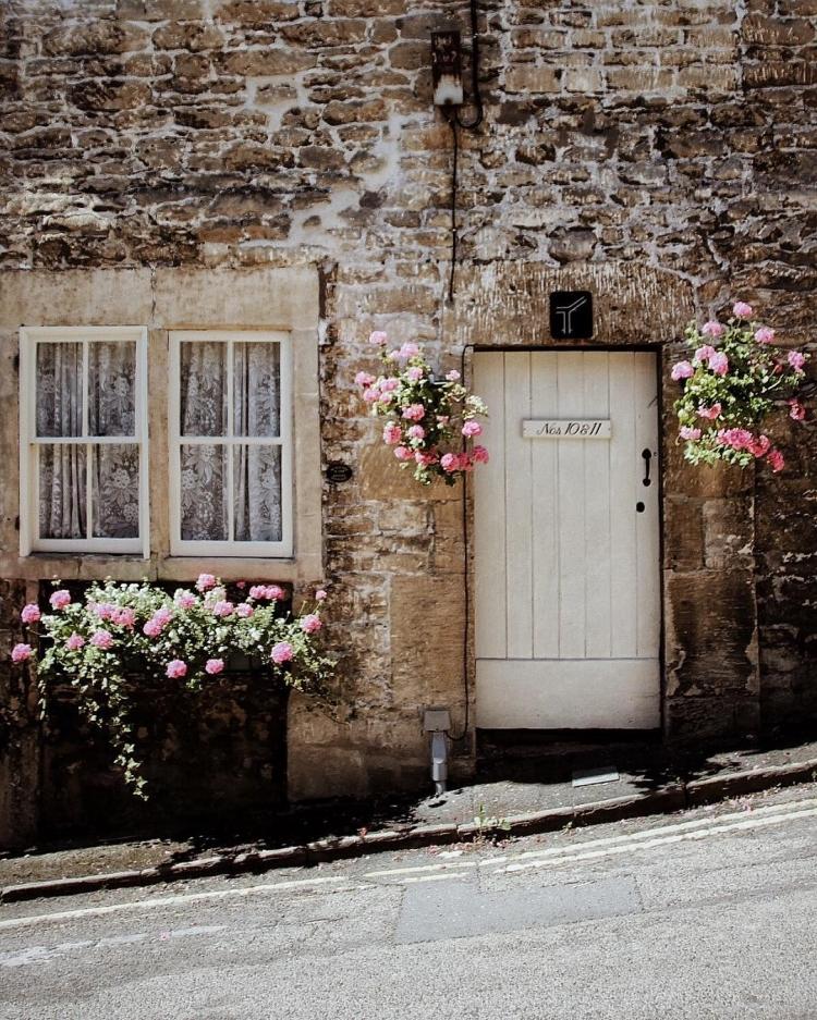 дом дверь цветы