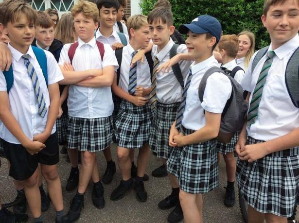 мальчики в юбках бойкот против школьной формы