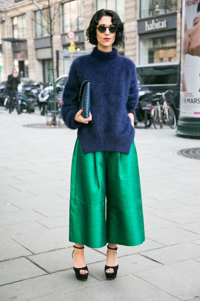 Тренд: модные брюки-кюлоты - фото №19