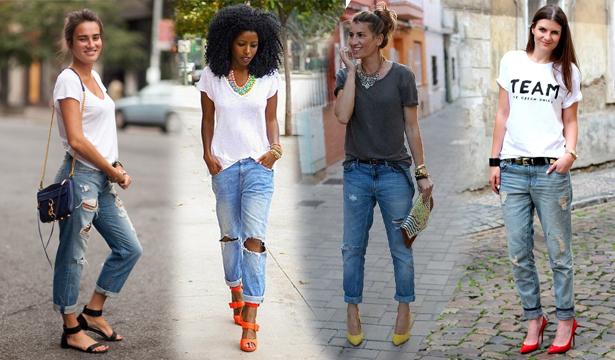Как и с чем носить джинсы-бойфренды - фото №2
