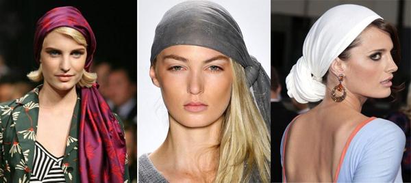 Как красиво завязать платок на голове, если у Вас короткие 4