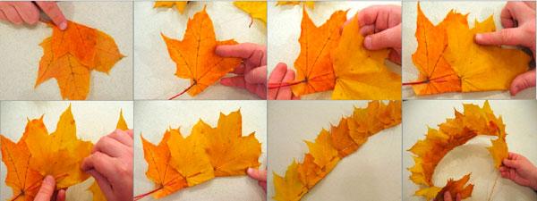 Картины из осенних листьев. Аппликации из осенних листьев