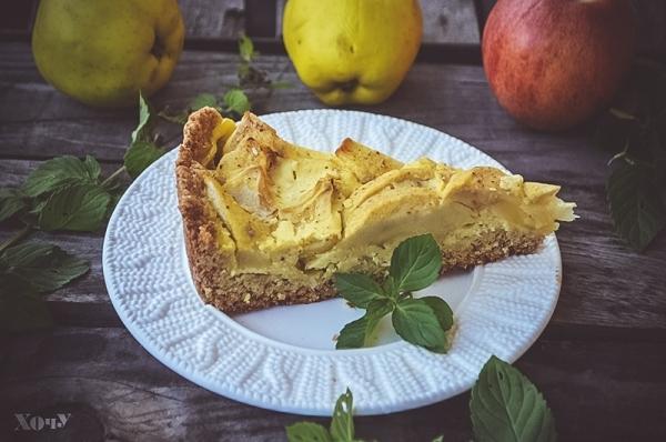 овсяный пирог с яблоками рецепты
