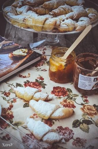 творожные рогалики рецепт с фото