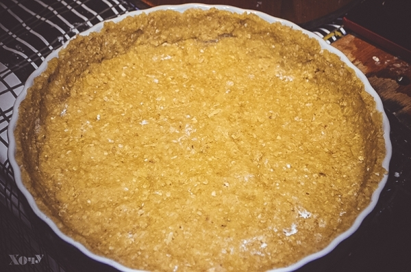 как готовить овсяный пирог с яблоками