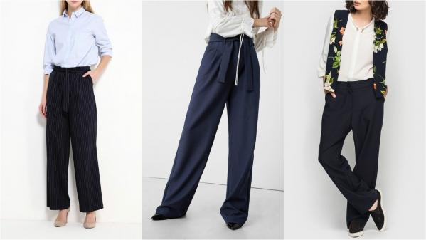 как носить широкие брюки
