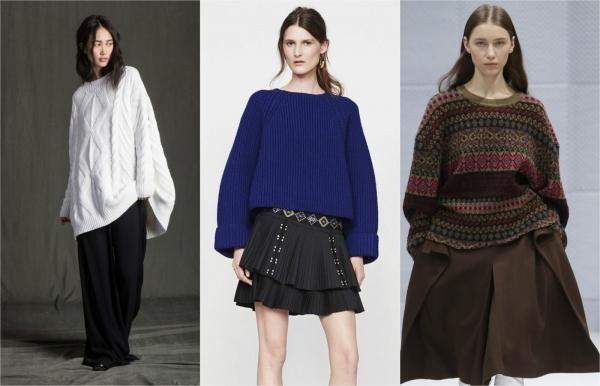 свитер оверсайз на зиму 2016