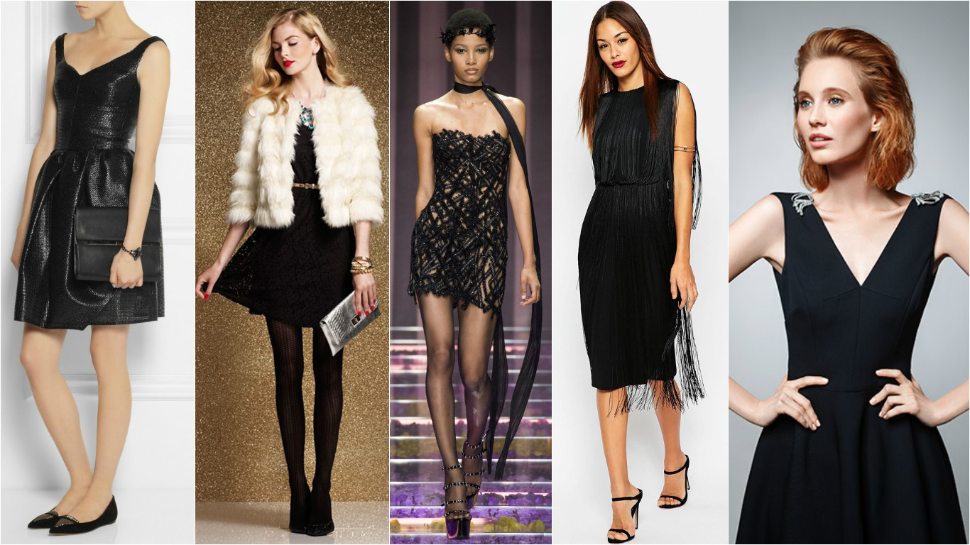 черное платье на новый год 2016