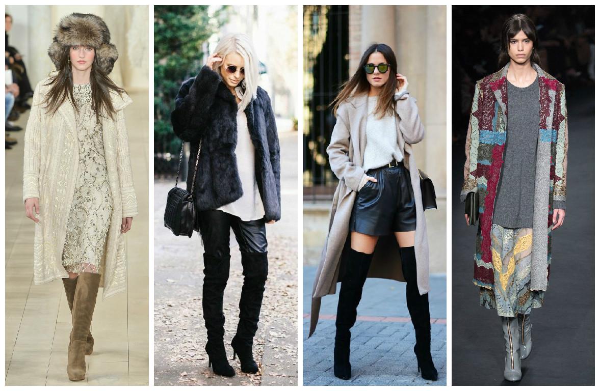 Модные сапоги до колен 2015 - стритстайл
