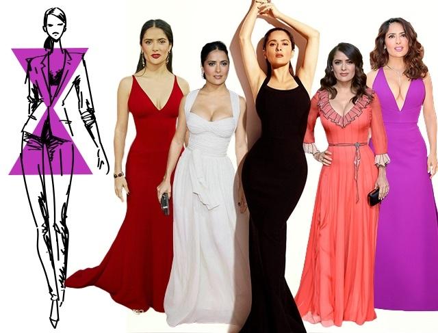 Как выбрать вечернее платье по типу фигуры песочные часы