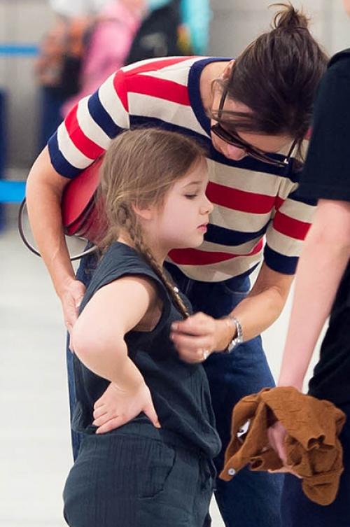 Виктория Бекхэм с дочкой
