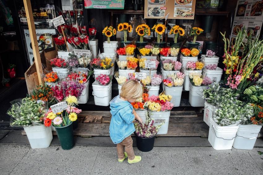 цветы мальчик