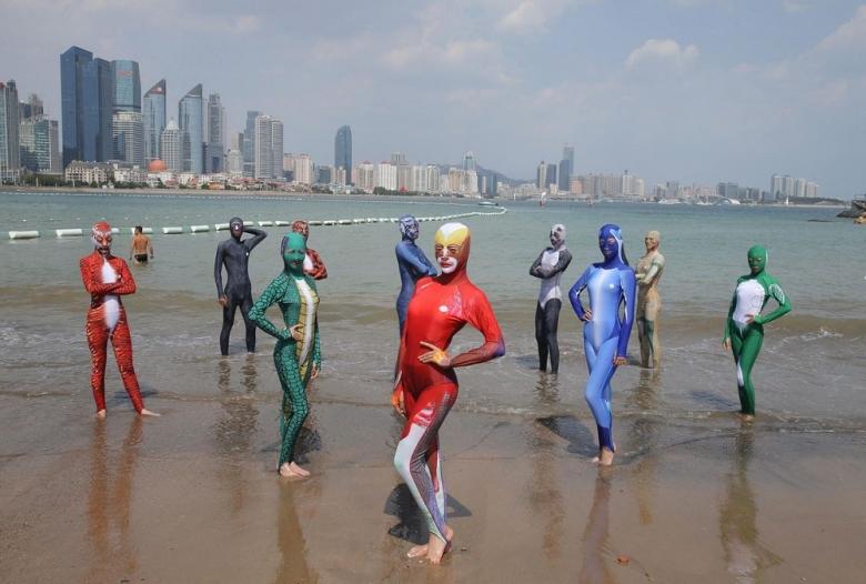 купальники в китае фото