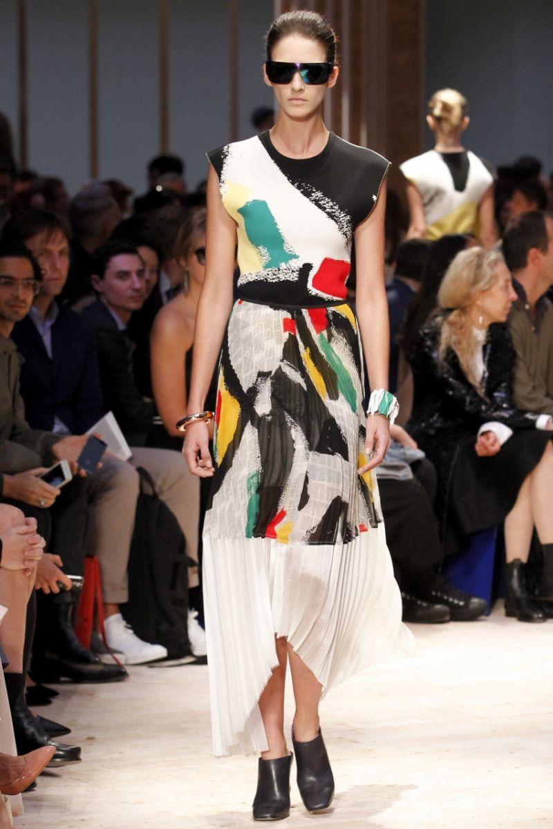 Плиссированная юбка Céline - фото №2