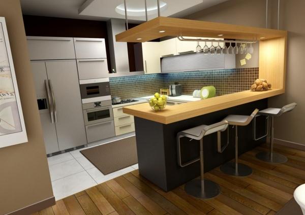 дизайн барных стоек для кухни идеи
