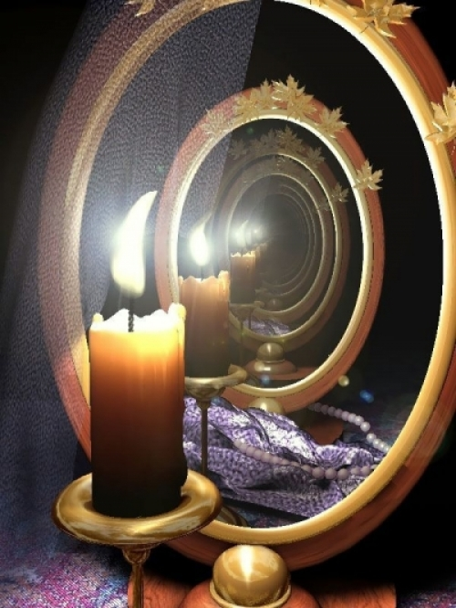 гадание на зеркалах на рождество