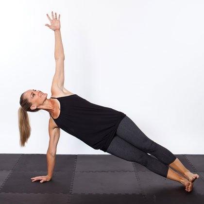 поза боковой планки йога пресс