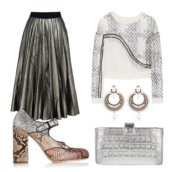 Как носить плиссированную юбку осенью 2015