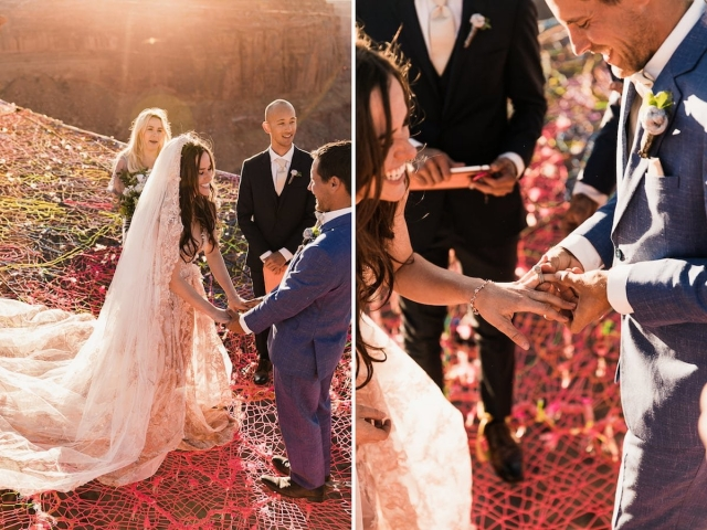 """Свадьба над каньоном: она сказала """"да"""" на высоте 122 метра - фото №3"""