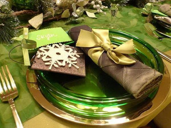 салфетки на Новый год украшение стола