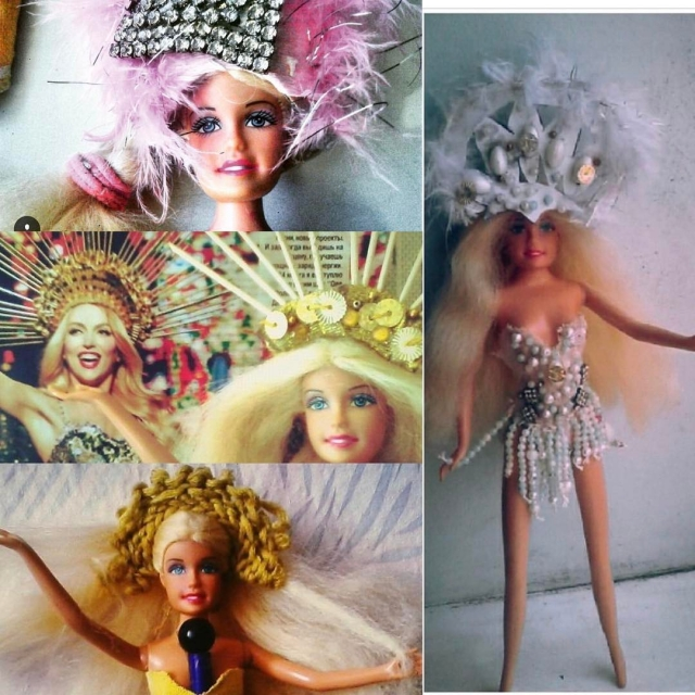 Барби в кокошнике: Оля Полякова похвасталась своими кукольными копиями (ФОТО) - фото №1