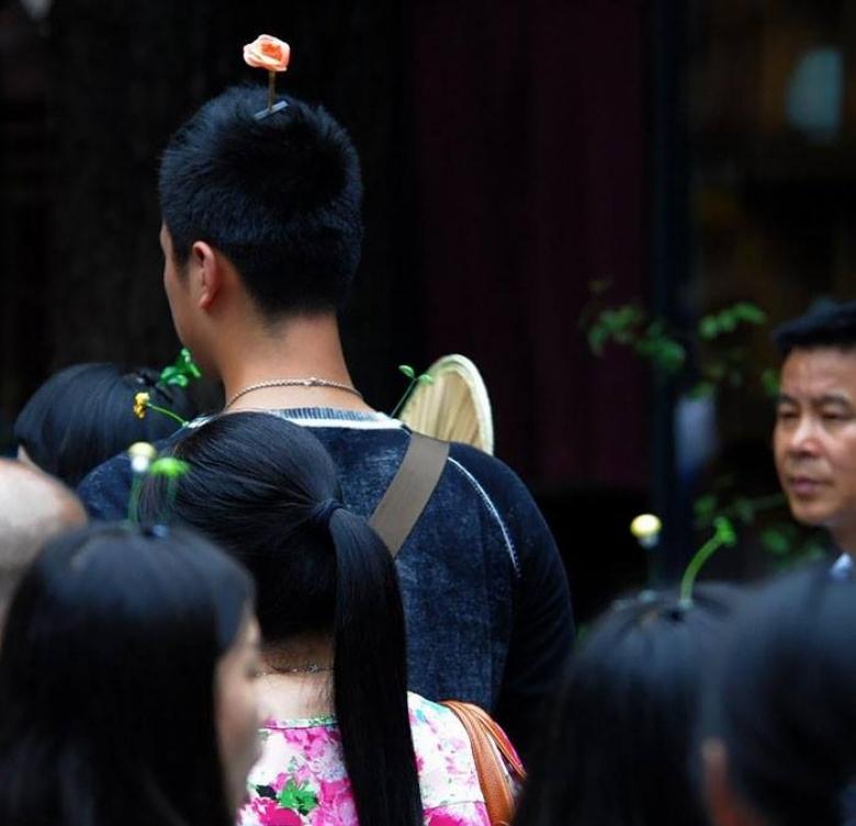 ростки из головы китай фото