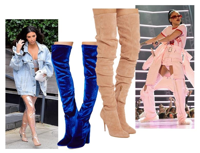 Модная женская обувь осень-зима 2016 фото Модные сапоги осень-зима 2016  ботфорты 0a748a290fc