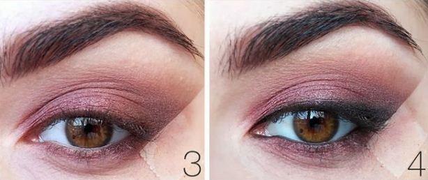 Как сделать цветные smoky eyes: пошаговый урок винного макияжа глаз - фото №3