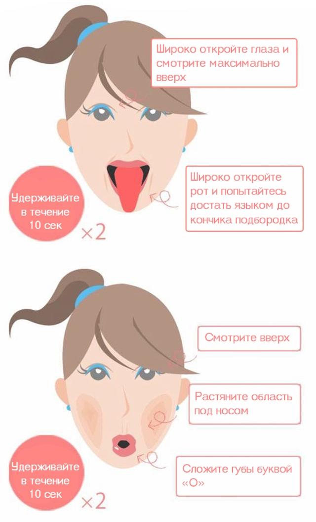 Как убрать второй подбородок в домашних условиях быстро упражнения 23