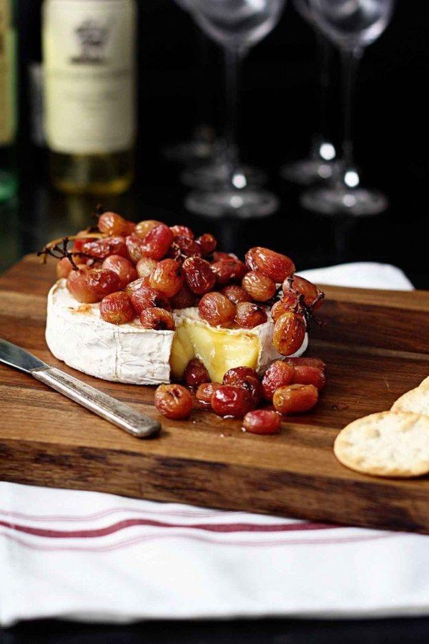 запеченный сыр виноград