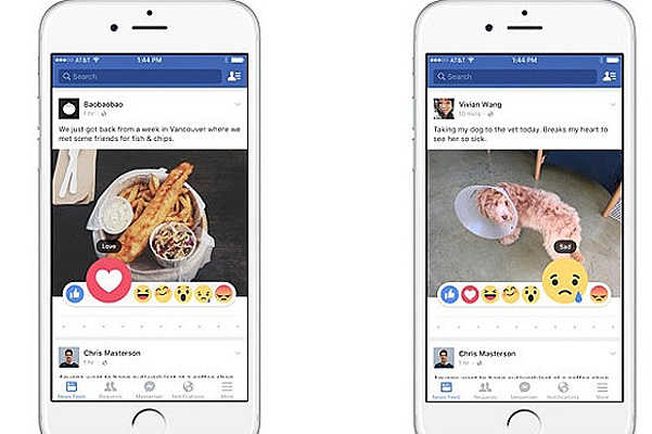 новые кнопки на Фейсбук