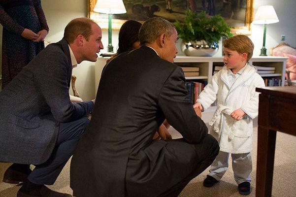 Обама и принц Джордж