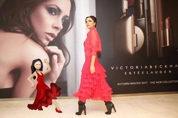 виктория бекхэм в красном платье
