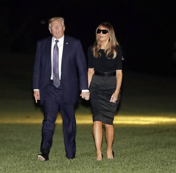 мелания трамп в черных очках
