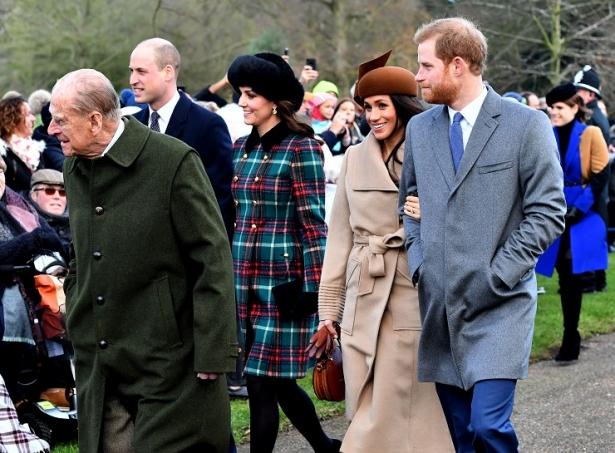 Меган Маркл с королевской семьей